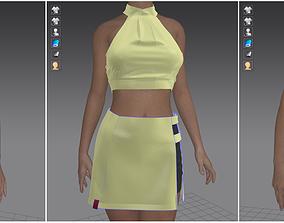 Marvelous Designer Garment - Female Activewear 02 3D