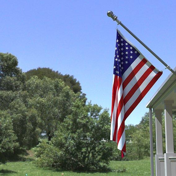 USA Flag and flagpole