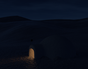Snow igloo 3D model