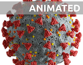 3D model Corona virus -animated-