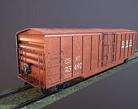Train Box Car Low-poly 3D model low-poly