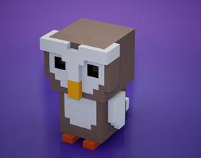 3D asset Voxel - Owl