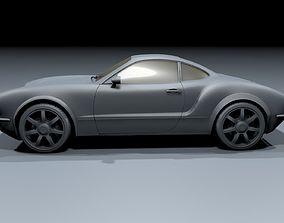 3D model Volkswagen Karmann Ghia 2 Door Coupe 2019 Concept