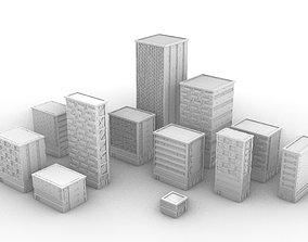 3D printable model Modular Buildings Pack I -
