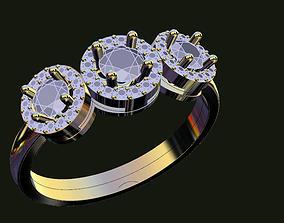 3 heads ring 3D printable model