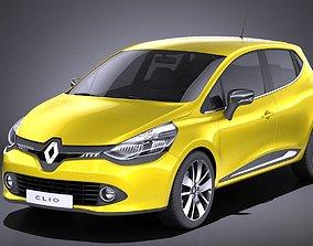 3D model Renault Clio 2015 VRAY
