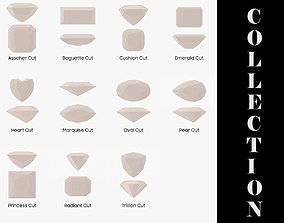 11 Diamond Cuts Collection 3D