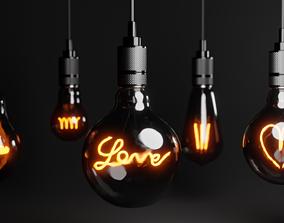 Lightbulbs collection 3D model
