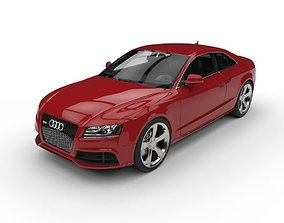 Audi RS5 Coupe c4d vray Low Poly 3D asset
