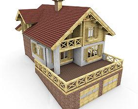European Chalet House 3D model