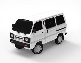 3D model Low Poly Suzuki Super Carry Minivan