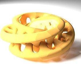 Interlocking 3D Moebius Sculpture