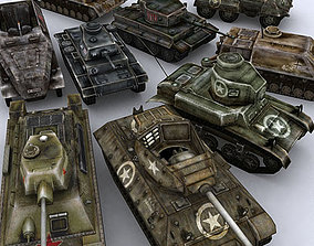 WW2 Tanks collection 3D asset