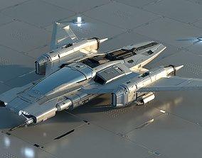 3D model Star Wars x Porsche Tri-Wing S-91x Pegasus