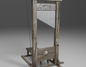 3D model game-ready Guillotine