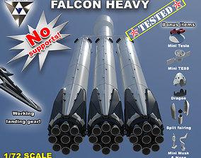 Falcon Heavy and Falcon 9 3D printable model