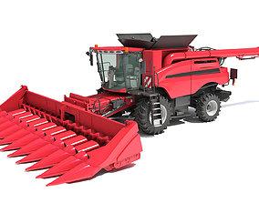 3D model Corn Combine Harvester