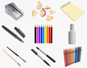 drawing tools and accessories 3D