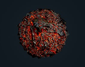 3D model Lava Ground Seamless PBR Texture 21