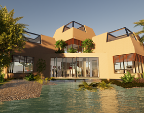 3D animated modern House