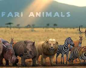 3DRT - Safari Animals animated