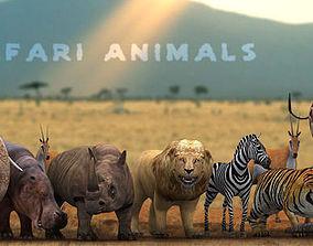 3DRT - Safari Animals animated