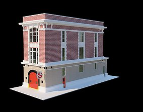 3D asset Ghostbusters Firestation Firehouse Exterior Low