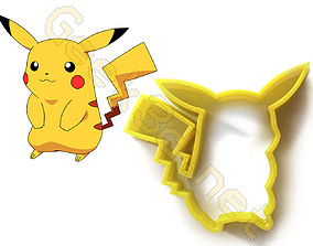 Cookie cutter Pikachu Pokemon 3D print model