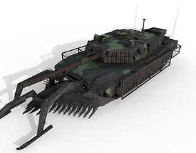 Tank Abrams MinePlow Extra Defense Woodland USA 3D asset