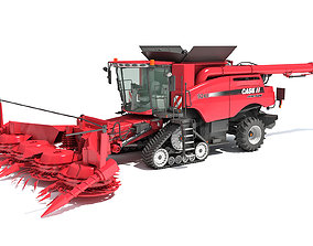 3D model Case IH Tracked Combine