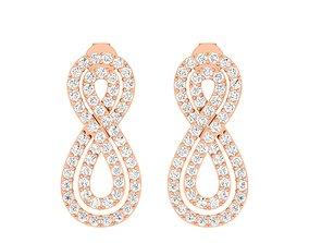 Women Earrings 3dm stl render detail platinum engagement