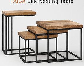 Taiga Oak Nesting Table 3D