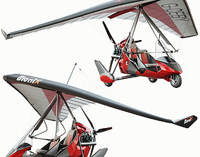Ultralight trike Tanarg 912 3D model