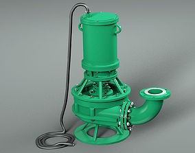 Submersible High Pressure Pump pumping 3D model