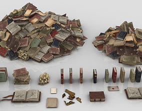3D asset Pack of Medieval Books and Papers