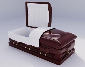coffin modifiable blender 3D asset
