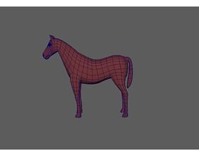 horse art 3D asset VR / AR ready