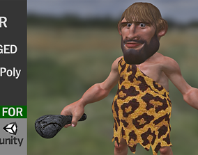 Game Ready Neolithic Man 3D asset