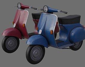 Motor Scooter 1B 3D model