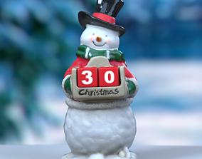 Snowman Christmas 3D model scan realtime