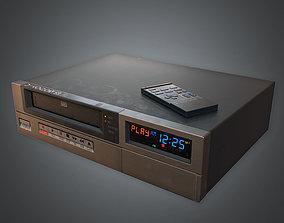 3D model VR / AR ready VCR VHS Player 02 80s