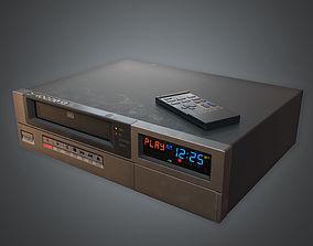 3D model VCR VHS Player 02 80s