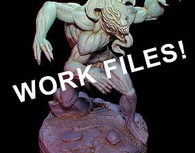3D Rampagin Demon Workfiles