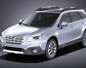 3D model Subaru Outback 2017 VRAY