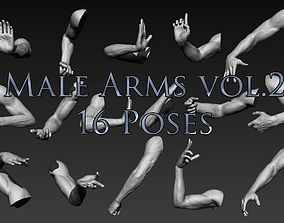 Male Arms Vol2 16 Poses body 3D
