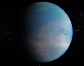Planet Kepler-62e 3D model