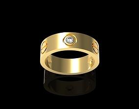 Cartieerr Lovee ring 3 Diamond 3D print model