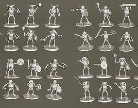 3D printable model 40 x 28mm Undead Skeleton Beastman 2