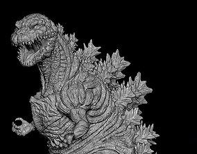 Godzilla statue 3D printable model
