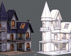 House Cartoon V09 3D asset